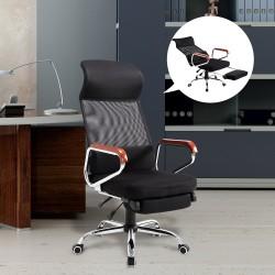 Silla Reclinable Malla Negro 56,5x60x122-129cm...