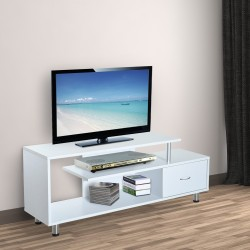 Mueble para Televisor Madera Blanco 152x40x60,5cm...