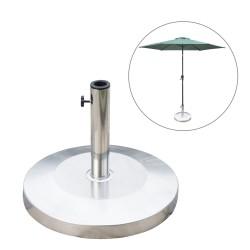 Base Sombrilla para Parasol Plateado Acero Inoxidab...