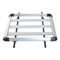 Baca Barras de Coche Equipaje Aluminio Plateado130c...