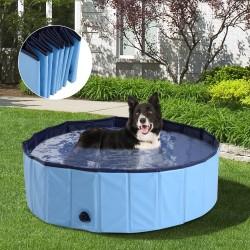 Piscina o Bañera para Perros y Gatos Azul PVC Φ100x...