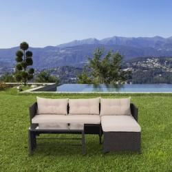 Conjunto de Muebles de Jardín –Color marrón y beige ...