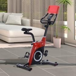 Bicicleta Estática Magnética – Color negro y rojo - ...
