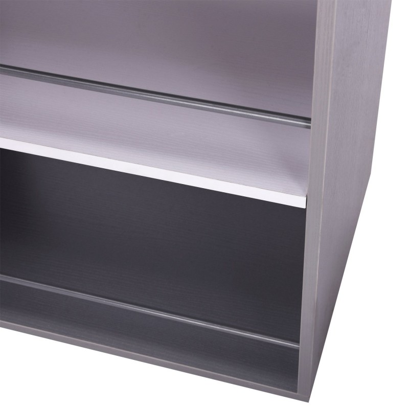 Carrito de cocina auxiliar color gris mdf metal - Carrito auxiliar cocina ...