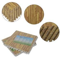 Alfombra Puzzle para Niños o Gimnasio– Color madera ...
