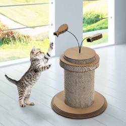 Rascador para Gato tipo Árbol – Color Amarillo – Mat...