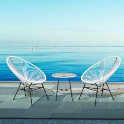 Conjunto de Muebles Terraza Jardín – Color Blanco –...