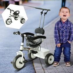 Triciclo para Niños con Capota – Color Blanco – Hier...