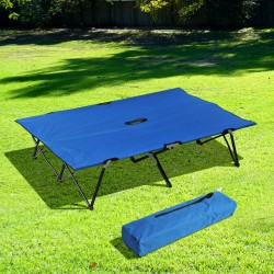 Cama Plegable de Camping o Jardín – Tipo Tumbona Do...