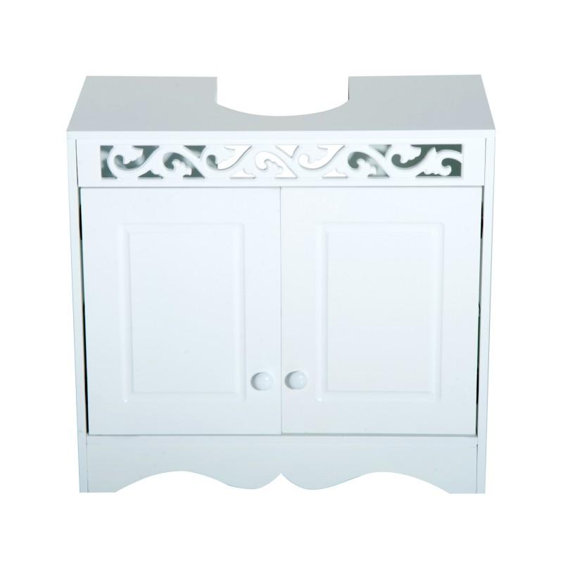 Armario de ba o bajo para lavabo con 2 puertas y es for Armario bajo lavabo pie