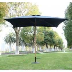 Sombrilla Cuadrada Negro Madera 2x3m...