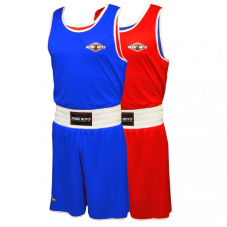 SET DE BOXEO AMATEUR RUDE BOYS REVERSIBLE