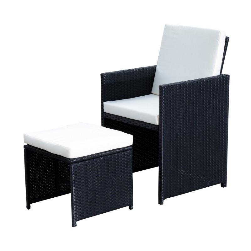 Conjunto de muebles rat n de jard n con 9 piezas - Muebles de ratan para jardin ...