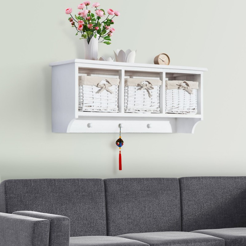 Estanter a colgante de pared para sala ba o y cocin for Estanteria pared bano