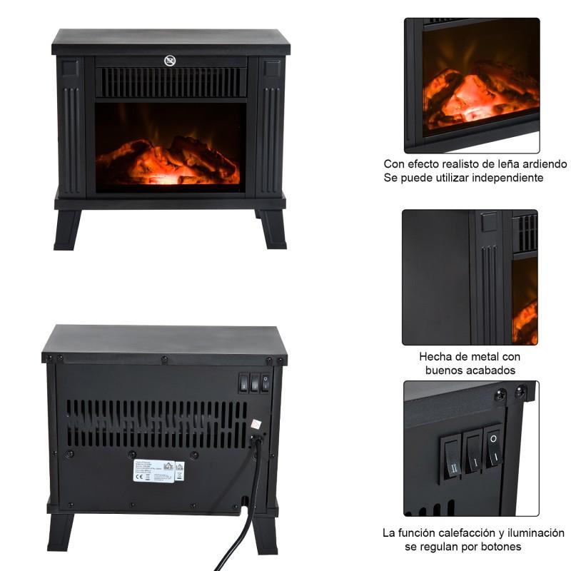 Chimenea el ctrica calefactor tipo estufa de pie co - Tipos de estufas de lena ...