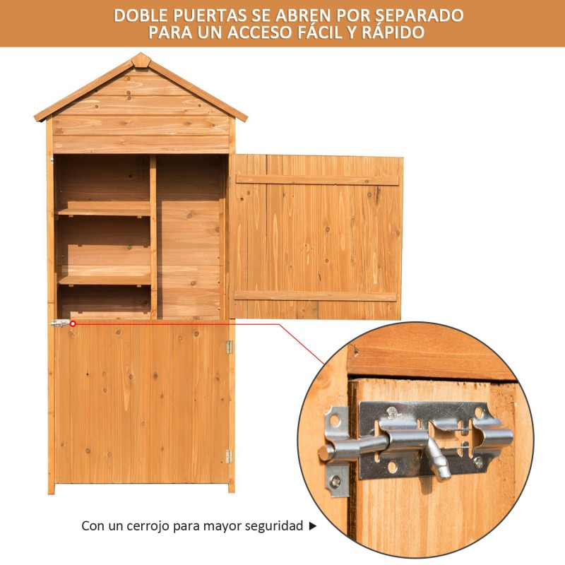 Caseta de jard n exterior tipo cobertizo de madera - Tipo de madera para exterior ...