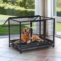 Jaula de Metal para Mascotas tipo Perro Grande con ...