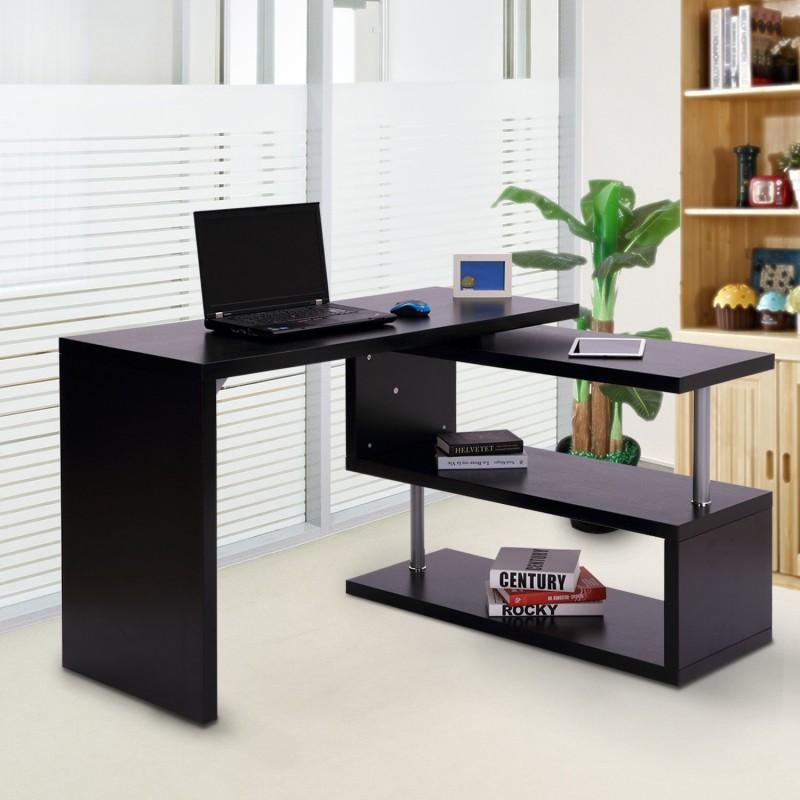 Mesa escritorio de ordenador pc con 2 estantes para - Escritorio para ordenador ...