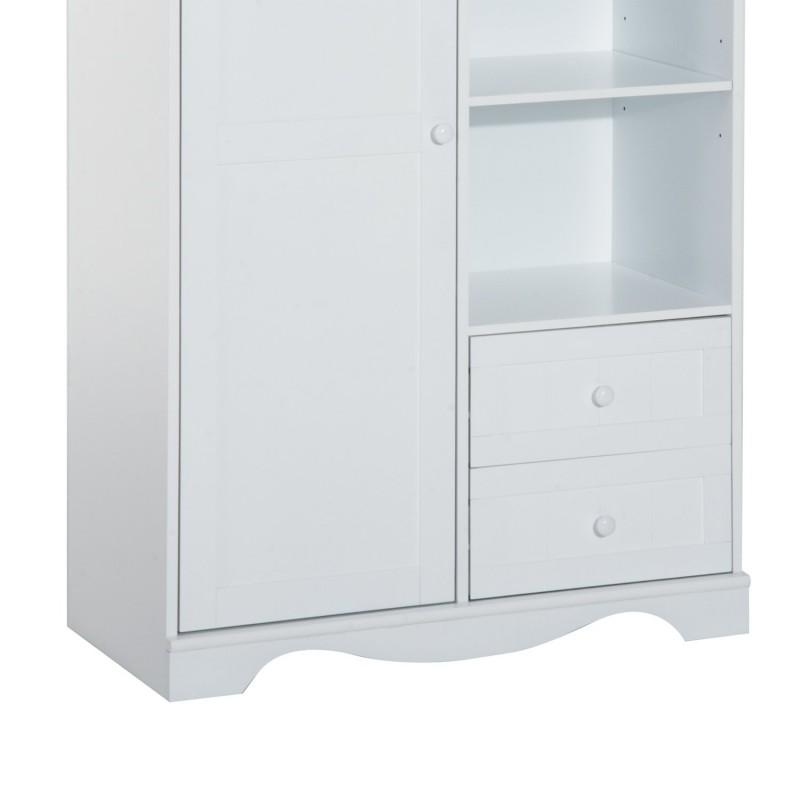 Armario de almacenaje con 3 estantes 1 puerta y 2 c - Armarios para almacenaje ...