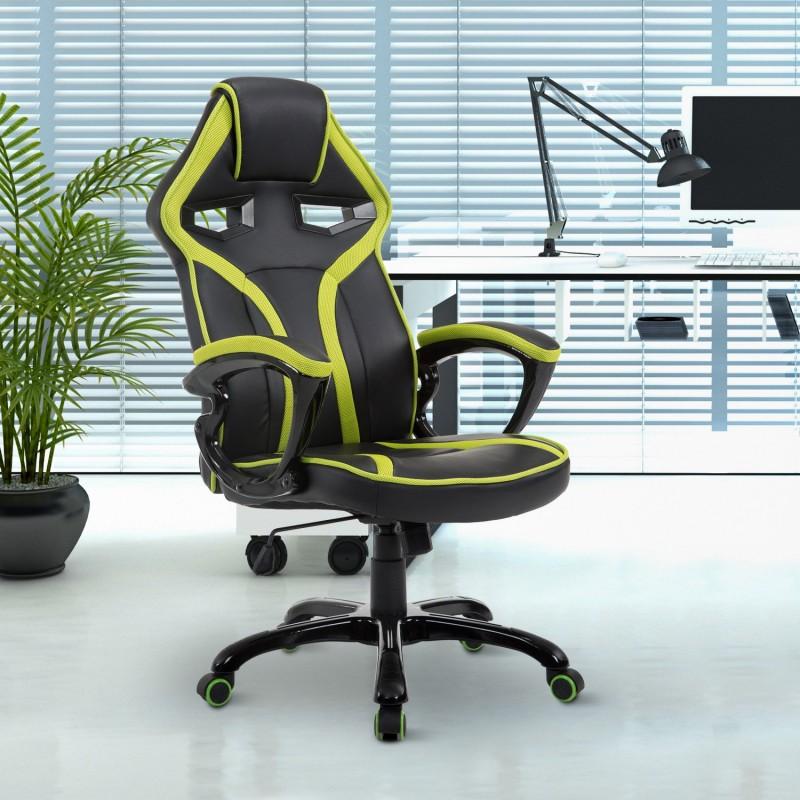 Silla de oficina ejecutiva reclinable y deportiva d for Silla oficina reclinable