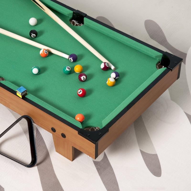 Mesa de billar con accesorios de madera para ni os for Accesorios de mesa de billar