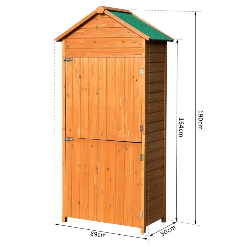 Caseta de jard n exterior tipo cobertizo de madera - Caseta de jardin de madera ...
