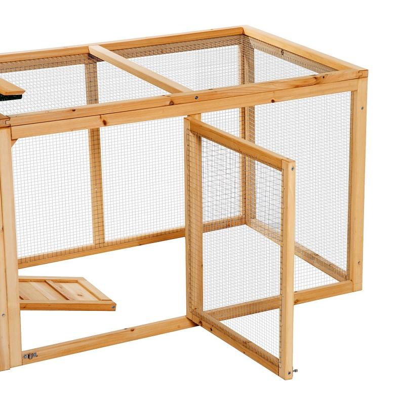 Gallinero corral de madera para exteriores tipo jau - Tipo de madera para exterior ...