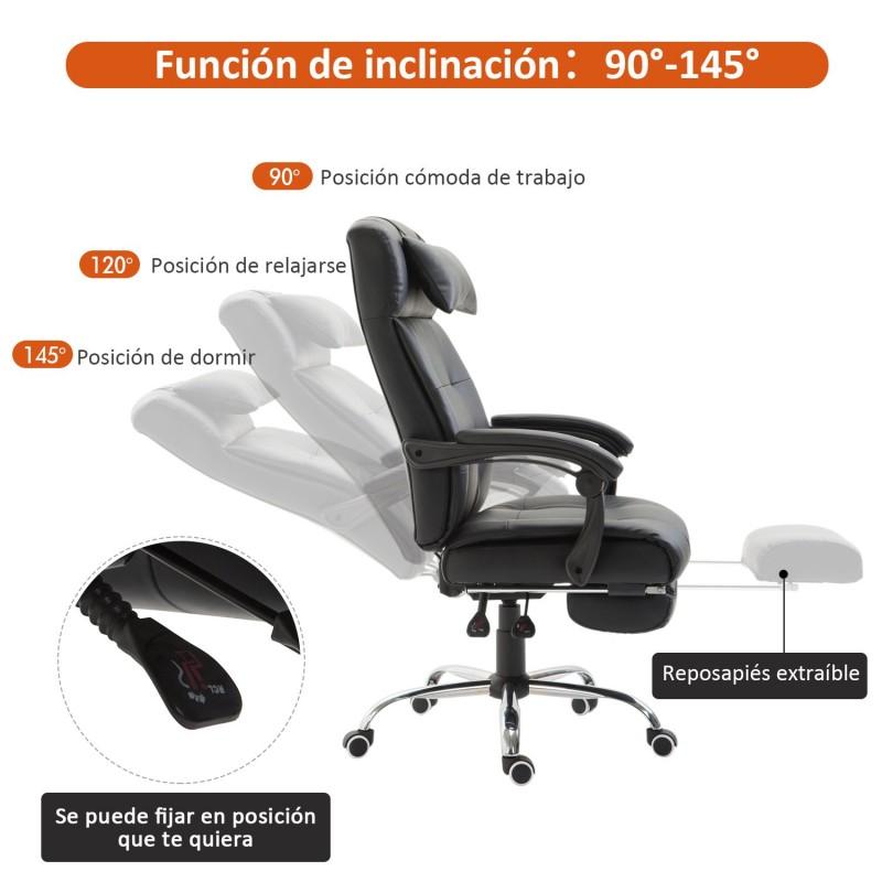 Silla de oficina y escritorio ergon mica reclinable for Escritorio y silla de oficina