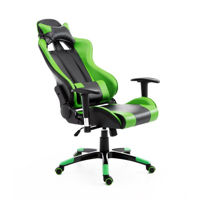 Silla de oficina gaming elevable y giratoria colo for Silla giratoria oficina