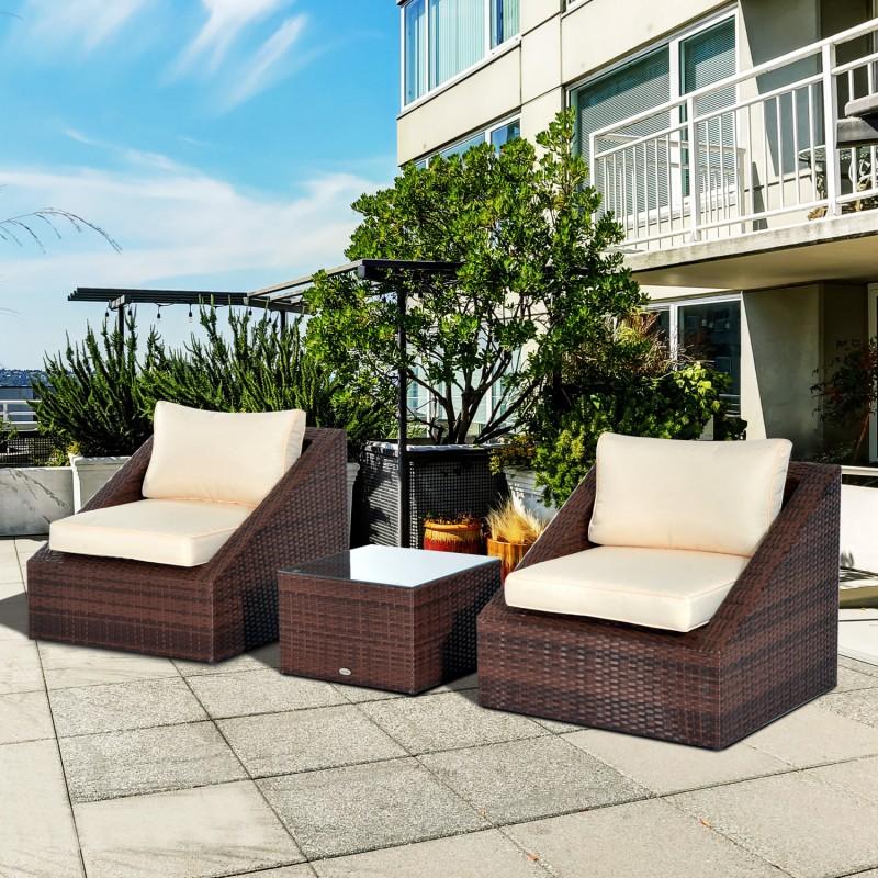 Mueble jard n de sillas mesa y coj n color ratan Cojin silla jardin