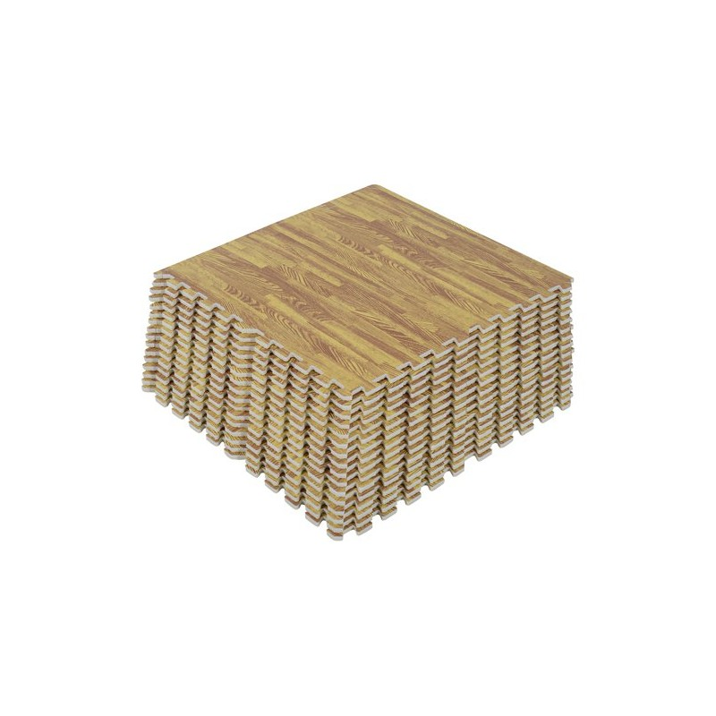 Alfombra puzzle para ni os o gimnasio color madera - Alfombras puzzle infantiles ...