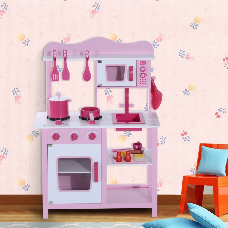Cocina de juguete infantil con accesorios madera - Cocina de juguete ...