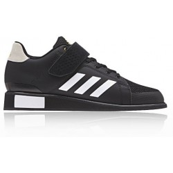 ZAPATILLA ADIDAS POWER PERFECT 3 NEGRA-BLANCA POWERLIFTING - HALTEROFILIA