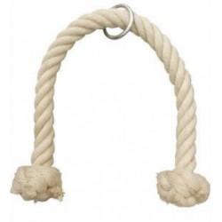 agarre de cuerda/soga de tríceps doble