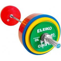 SET BARRA + DISCOS POWERLIFTING DE COMPETICIÓN IPF ELEIKO 335 KG