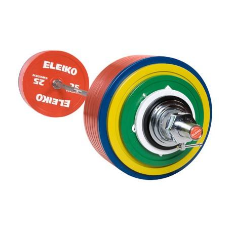 SET BARRA + DISCOS POWERLIFTING DE COMPETICIÓN IPF ELEIKO 435 KG