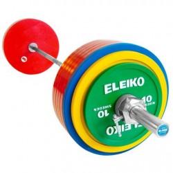 SET BARRA + DISCOS POWERLIFTING DE COMPETICIÓN IPF ELEIKO 185 KG