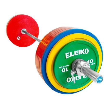 SET BARRA + DISCOS POWERLIFTING DE COMPETICIÓN IPF ELEIKO 285 KG