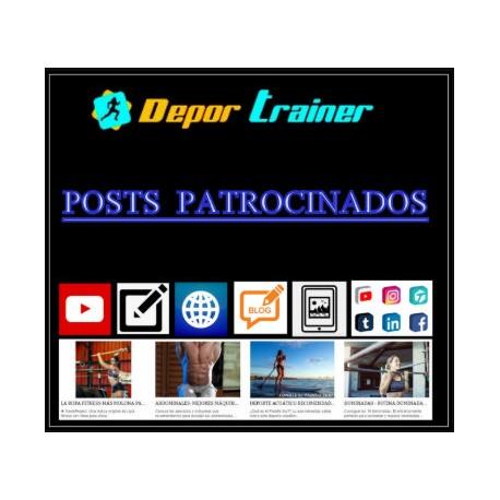 POST PATROCINADO DEPORTE, FITNESS, SALUD, ENTRENADOR PERSONAL, YOUTUBER...