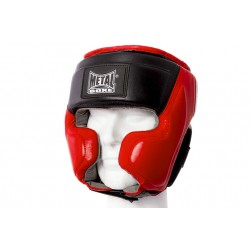 CASCO BOXEO SEMI INTEGRAL DE CUERO METAL