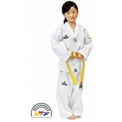 Cuello blanco DOBOK Taekwondo DAEDO modelo WT