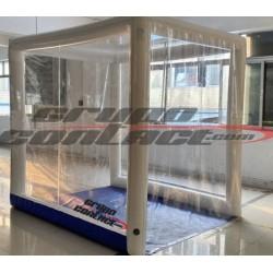 Cabina inflable y plegable de descontaminación para objetos