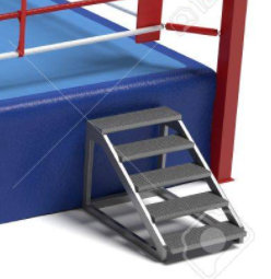 escalera del ring de boxeo