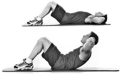 encogimientos abdominales crunches en el suelo