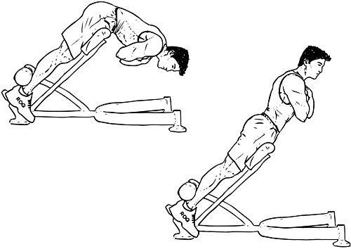ejercicio hiperextensiones para lumbares