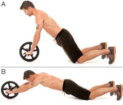ejercicio rueda abdominal