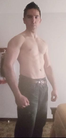 foto en volumen muscular con 68 kg de peso corporal