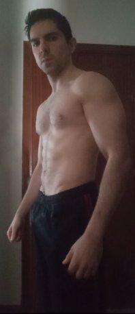 volumen muscular con 67 kg de peso