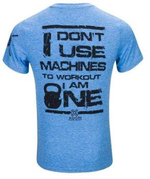 camiseta crossfit no uso máquinas