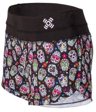 short crossfit chica con calaveras mexicanas
